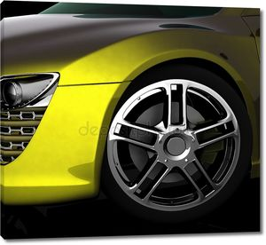Диск желтого авто