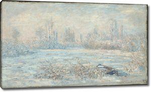 Моне Клод. Мороз возле Ветей, 1880