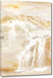 Срывающаяся с гор вода