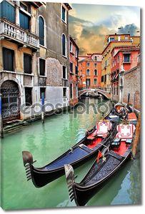 Красивый романтический Венецианский пейзаж