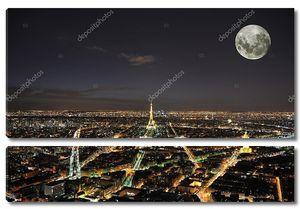 Полная луна над Парижем