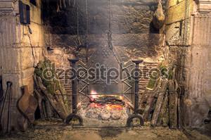 Средневековый замок кухня