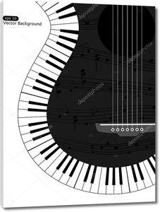 Музыкальный фон с гитарными струнами