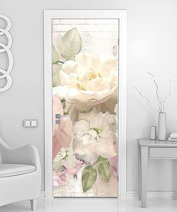 Цветы белого шиповника