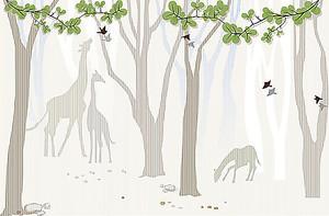 Фигуры деревьев и жирафов