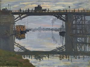 Моне Клод. Деревянный Мост, 1872