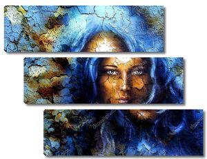 Лицо женщины со звездой на лбу