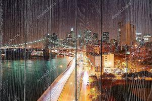 Оживленное движение Нью-Йорк Сити