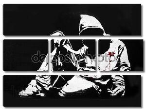 Бэнкси балахон с ножом граффити