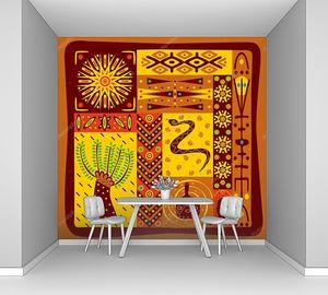 Орнамент в африканском стиле со змеей