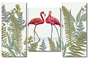 Парочка фламинго