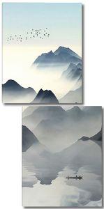 Плотный туман в горах