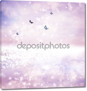 Бабочки на озере фэнтези