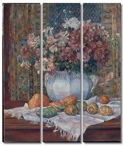 Ренуар. Натюрморт с цветами и опунциями