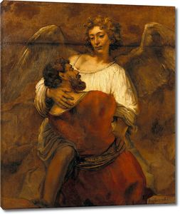 Рембрандт. Борьба Иакова с ангелом