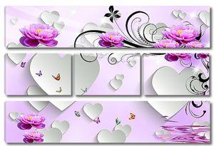 Лотосы и сердечки