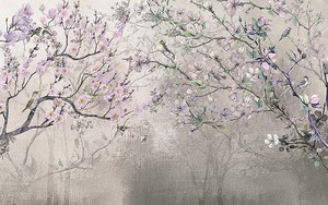 Живописные ветки деревьев