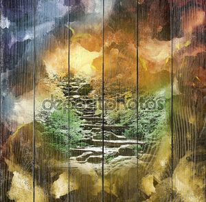 Арт фон, лестница в небеса