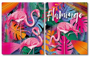 Яркие фламинго