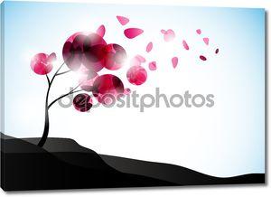 Валентина дерево, абстрактный фон