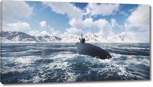 Российских атомных подводных лодок вид спереди 1
