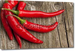 Красные горячие перцы чили
