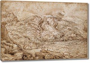 Брейгель. Альпийский пейзаж с рекой