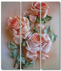 Розы из атласа