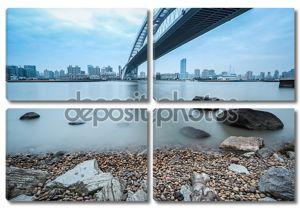 Лупу мост через реку Хуанпу в Шанхае
