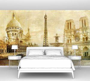 Фреска с прекрасной архитектурой