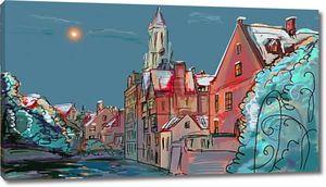 Обращается в зимний Старый город