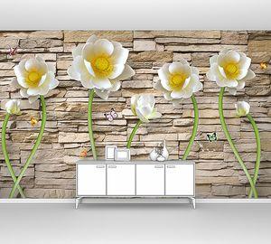 Кувшинки на кирпичной стене