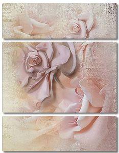 Розовые розы объемные