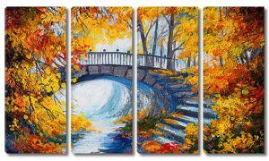 Спуск с моста к реке