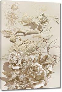 Абстрактные объемные цветы
