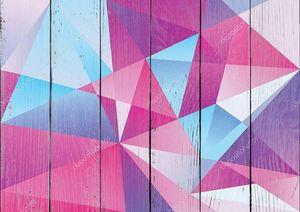 геометрические треугольник узор фиолетовый цвет доминирующим