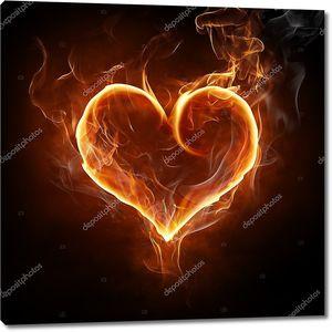 Пламенный символ сердца