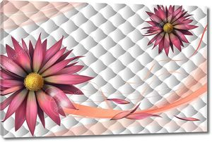 Плитка, большие цветы