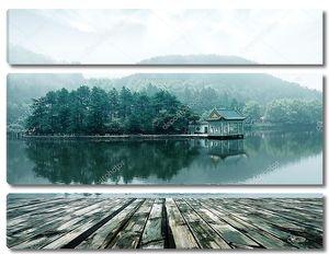 Альпийский пейзаж озера