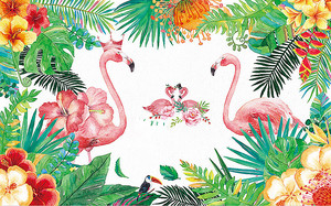Две пары фламинго