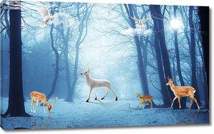 В синем лесу