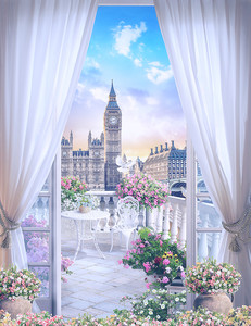 Балкон с видом на Биг Бен