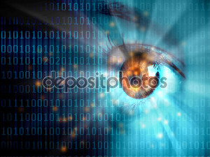 Поток цифровых данных и глаз