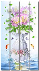 Пионы в вазе на воде