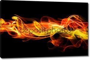 Огненный дым фон