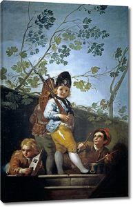 Гойя и Лусиентес Франсиско де. Игра в солдат