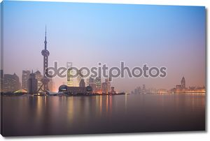Шанхайский горизонт в рассвет
