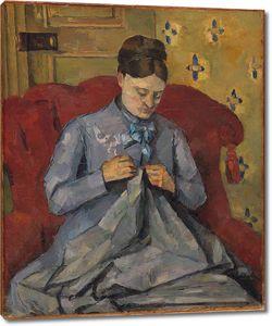 Поль Сезанн. Портрет жены художника