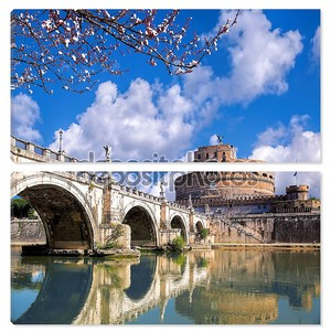 Анджело с дерево цвести в Риме, Италия