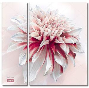 Цветок георгин, окрашены в стиле акварели